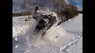 Покатушки на снегоходах! Yamaha Nytro, Venture LYNX BoonDocker  Lynx Adventure Ski DooTundra РГ #4
