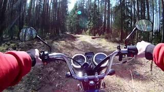 Поездка в лес на мопеде Альфа