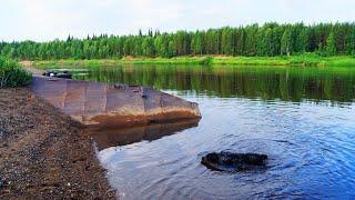 Поход по таёжной реке Часть 1. Рыбалка. Язь и окунь на спиннинг. Утонувшая баржа. 4 дня один в тайге