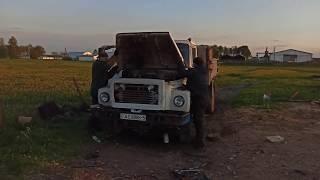 Установка д245 на ГАЗ 3309 после капиталки/первый выезд
