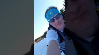 Спуск на лыжах с 16го г.Риддер. поход в горы