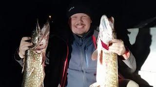 Неугомонные рыбаки и Крупная щука, окунь поздней осенью, экстремальная рыбалка, good fishing pike