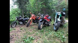 Советские и китайские мотоциклы на бездорожье