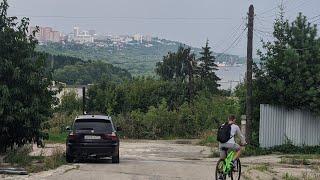 Первые покатушки на велике с Артемом. А так же где живут мажоры Ульяновска, и чуть не слопала собака