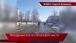 Батюшка на моноколесе/Свердловская область