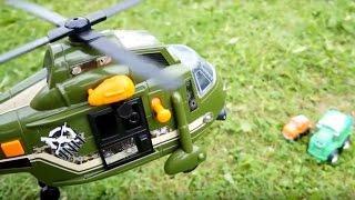Мультики про машинки - Чак и полет на вертолете
