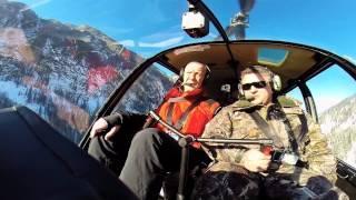 Полет на вертолете над Алтаем
