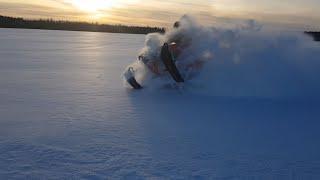 Застряли на снегоходах yamaha venture, Polaris rmk. BRP tundra. глубокий снег! РГ #6