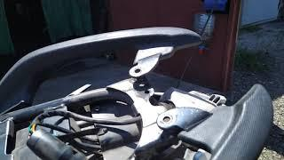 Багажная система Shineray 6c, лопнула рама из-за кофра.