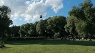 Покатушки на вертолете Robinson (посадка)
