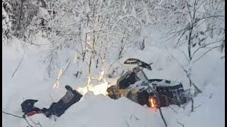 Новички застряли на снегоходах в Кандалакше! Polaris rmk 800 ski-doo summit