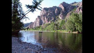 ЛОВЛЯ/Рыбалка на Хариуса на Таёжной  РЕКЕ ХАКАСИИ# Ночёвка У реки#  Разведка новых мест!!!