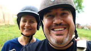Лошадиное счастье на двоих!! Катания на лошадях Польша. Прогулка катание на лошадях.