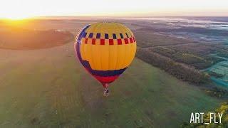 Полет на воздушном шаре. Аэросъемка. Курск
