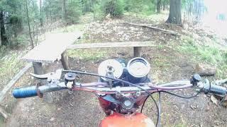 Минск113 валит! Первые покатушки на Мотоцикле Минск 125!!!!!