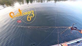 Браконьеры в законе перекрыли сетью реку, Рыбалка на спиннинг осенью
