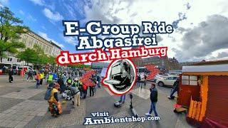 Group Ride - Demonstration Abgasfrei durch Hamburg - Electric Unicycle, EUC, Onewheel, E-Board, 4 K