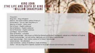 King John by William Shakespeare (The Life and Death of King John)