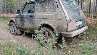 На что способна стоковая Нива в грязи!!! Варим кофе в лесу.