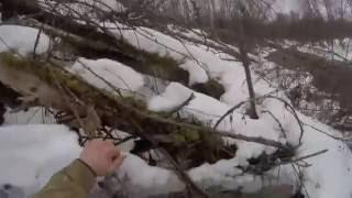Экстремальная рыбалка зимой по открытой воде и приключения.Часть 1