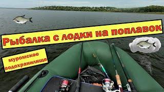 Рыбалка с лодки на поплавок. РЫБАЛКА на УДОЧКУ 2020. муромское водохранилище.
