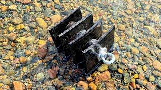 ЯКОРЬ ПОКАТУХА ВОЛОКУША для лебедки, в алюминиевую или ПВХ лодку для рыбалки на хариуса, тиролька.