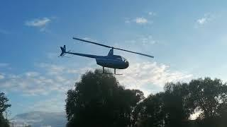 Покатушки на вертолёте Robinson (взлёт)