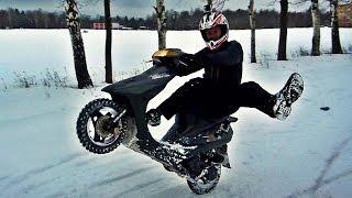 Зимний отжиг на скутерах Dio и Tact