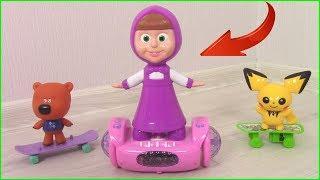 Маша на ГИРОСКУТЕРЕ! Кеша НЕ ХОЧЕТ ДЕЛИТЬСЯ с Машей? Мультики с игрушками для детей