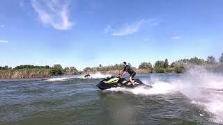 Трюки на гидроцикле BRP-260/Freestyle Jet-Ski BRP-260