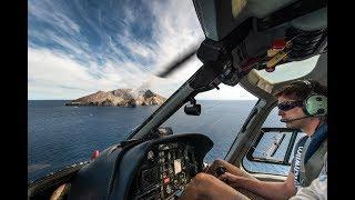 Полёт на White Island (действующий вулканический остров Новой Зеландии)