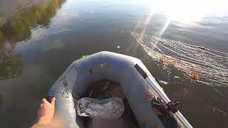 Рыбалка на сети осенью!