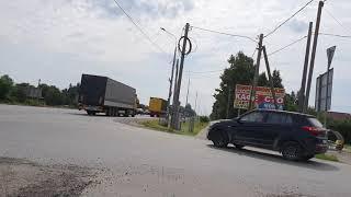 На моноколесе вдоль Московского шоссе.