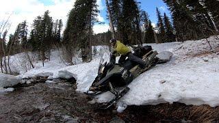 Рыбалка по хариусу весной или опасная экспедиция в тайгу на снегоходах/Уха на костре/Ночь на снегу