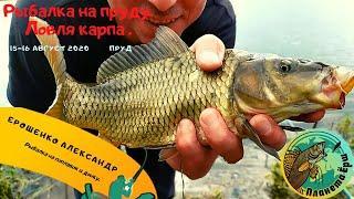 Рыбалка на неизвестном пруду. Ловля карпа на поплавок и донки. Экстремальная погода, гроза и град.