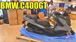 Распаковка BMW C400GT. Достаем из коробки новый макси скутер БМВ
