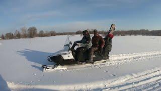 Поездка в избушку на снегоходах / Yamaha Viking 540V / Жизнь в тайге